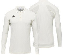 adidas Howzat Long Sleeved Cricket Polo Shirt - Snr